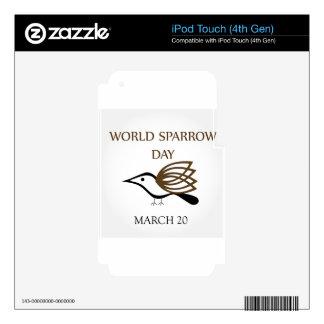 Día del gorrión del mundo 20 de marzo iPod touch 4G skins