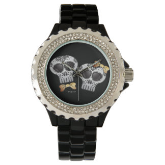 Día del Halloween muerto Skull Dia de los Muertos Reloj