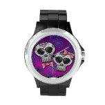 Día del Halloween muerto Skull Dia de los Muertos Relojes De Pulsera