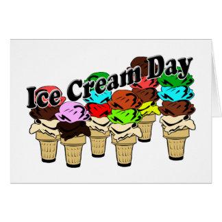 Día del helado (oficioso) tarjeta pequeña