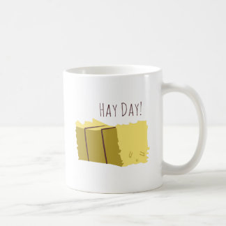 Día del heno taza básica blanca