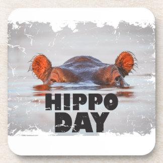 Día del hipopótamo - 15 de febrero - día del posavasos de bebidas