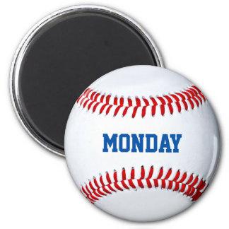 Día del imán del refrigerador del béisbol de la se