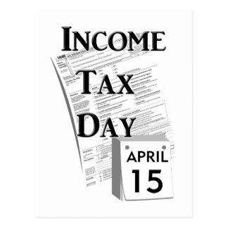 Día del impuesto sobre la renta tarjeta postal