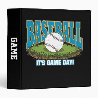 """Día del juego de béisbol carpeta 1 1/2"""""""
