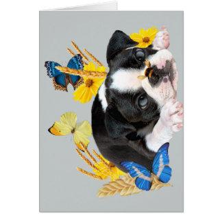 Día del juego de Boston Terrier Tarjeta De Felicitación
