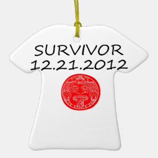 Día del juicio final maya 12 del superviviente 21 adorno de cerámica en forma de playera