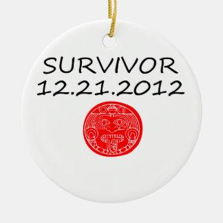 Día del juicio final maya 12 del superviviente 21 adorno redondo de cerámica