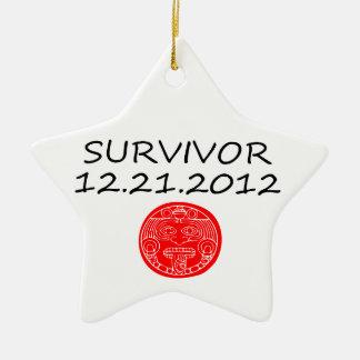 Día del juicio final maya 12 del superviviente 21 adorno de cerámica en forma de estrella