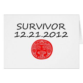 Día del juicio final maya 12 del superviviente 21  tarjeta de felicitación