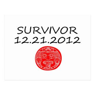 Día del juicio final maya 12 del superviviente 21 tarjeta postal
