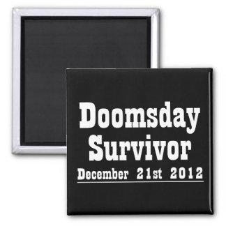 Día del juicio final superviviente 21 de diciembre iman de frigorífico