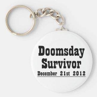 Día del juicio final superviviente 21 de diciembre llavero redondo tipo pin