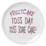Día del lanzamiento del Fruitcake Platos De Comidas