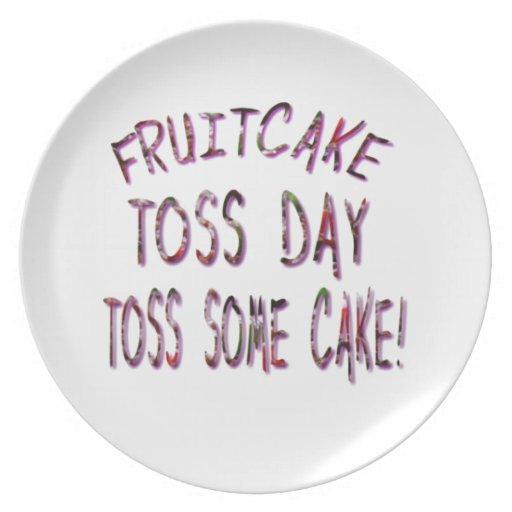 Día del lanzamiento del Fruitcake Platos Para Fiestas