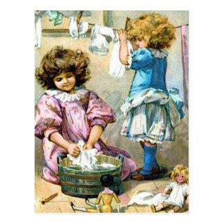 Día del lavadero de la muñeca tarjetas postales
