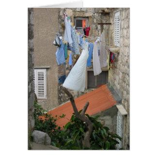Día del lavadero en Dubrovnik Tarjeta Pequeña