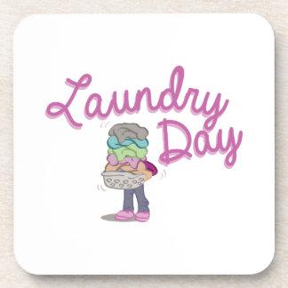 Día del lavadero posavasos de bebida