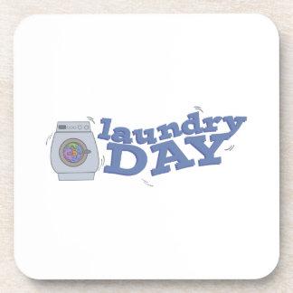 Día del lavadero posavasos de bebidas