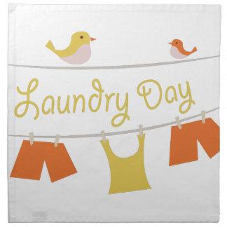 Día del lavadero servilleta imprimida