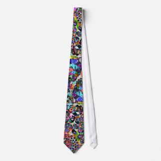 Día del lazo muerto de los cráneos del azúcar corbata personalizada