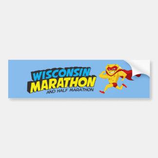 Día del maratón de Wisconsin Pegatina Para Auto