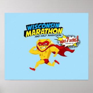 Día del maratón de Wisconsin Póster
