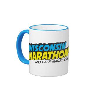 Día del maratón de Wisconsin Taza De Dos Colores