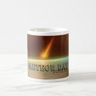Día del meteorito tazas de café