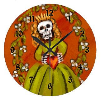 Día del Muerta muerto Reloj De Pared