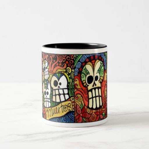 Día del muerto/del Dia de los Meurtos Mug Taza De Café