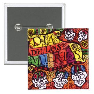 Día del muerto/del Dia de los Muertos/del cráneo d Pin Cuadrado