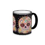 Día del muerto/del Dia de los Muertos Mug Taza De Dos Colores