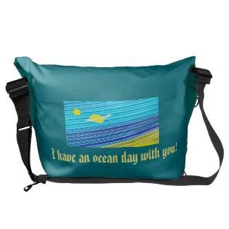 día del océano bolsas de mensajería