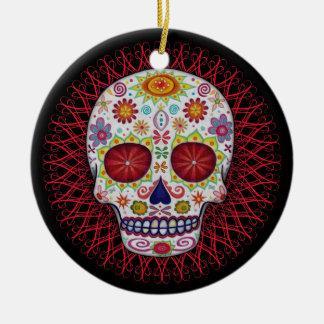 Día del ornamento muerto ornamento para arbol de navidad