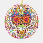 Día del ornamento muerto del cráneo ornamente de reyes