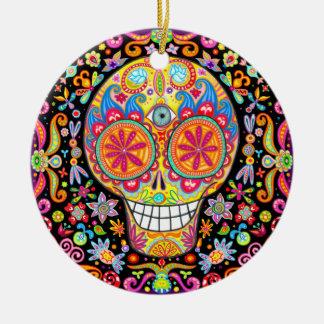 Día del ornamento muerto del cráneo ornaments para arbol de navidad
