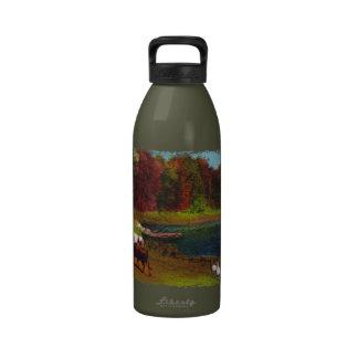 Día del otoño botella de beber