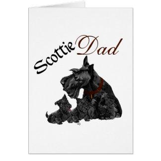 Día del papá del escocés y de padre de los perrito tarjeta de felicitación