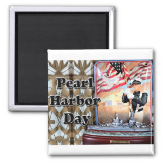Día del Pearl Harbor Iman Para Frigorífico