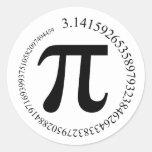 Día del pi (π) pegatina redonda