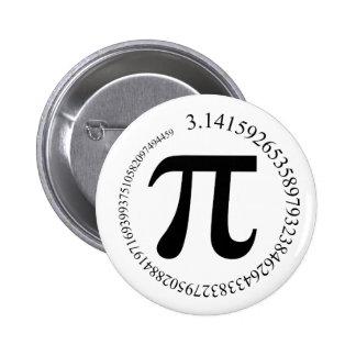 Día del pi (π) pin redondo 5 cm
