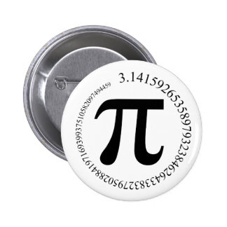 Día del pi (π) pin redondo de 2 pulgadas