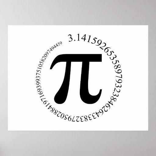 Día del pi (π) posters