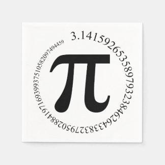Día del pi (π) servilleta de papel