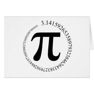 Día del pi (π) tarjeta pequeña
