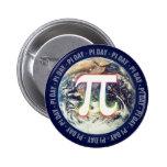Día del pi en la tierra - botón de la matemáticas pin