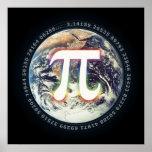 Día del pi en la tierra - poster de la matemáticas