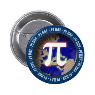 Día del pi en matemáticas de la tierra el | pin redondo de 2 pulgadas