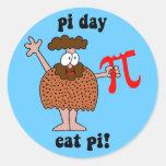 Día del pi etiqueta redonda